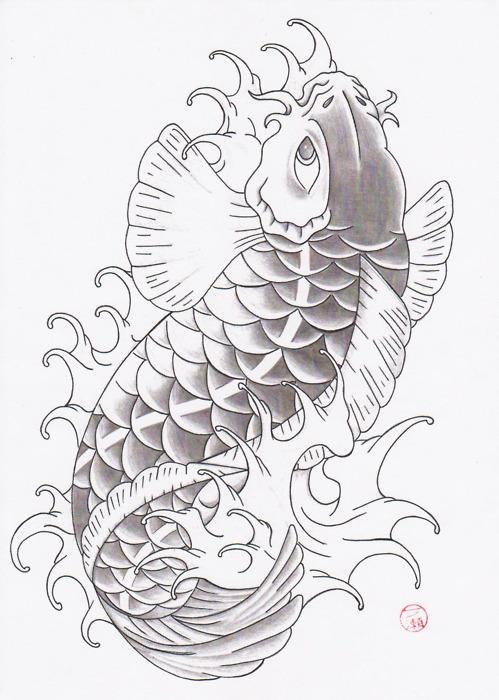 Koi fish drawing tumblr