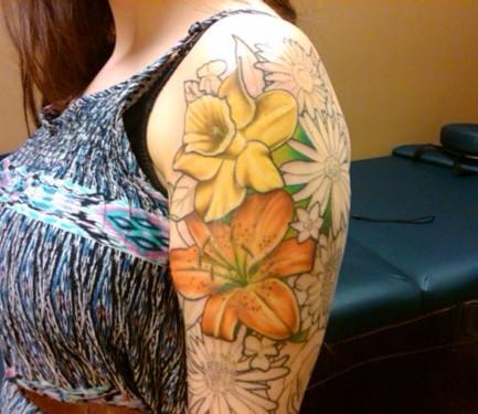 Iris Flower Tattoo Iris Flower Tattoo Sleeve