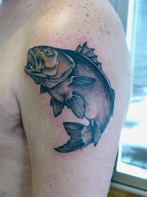 Bass fish tattoos archives tattoou for Bass fish tattoo