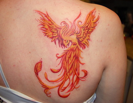Tattoo pictures and images of tattoos for Phoenix tattoo on back