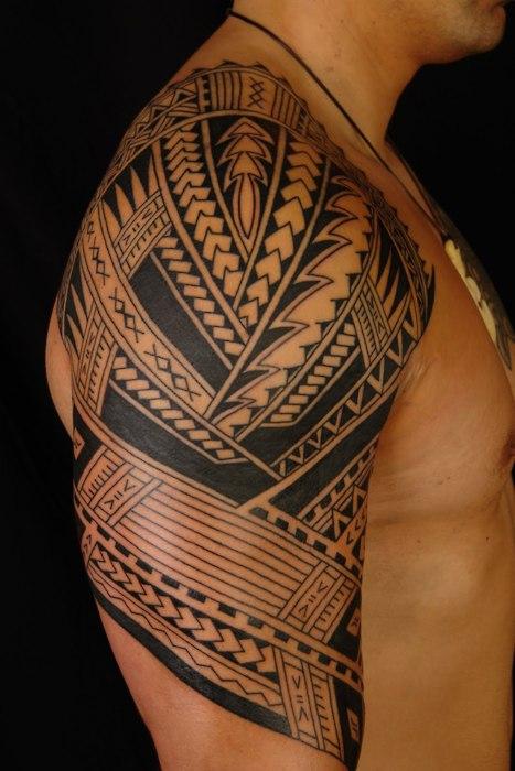 polynesian half sleeve arm tattoo polynesian tattoo pictures may 14 ...