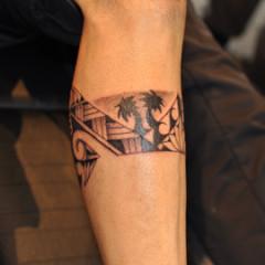 Polynesian Band Tattoo
