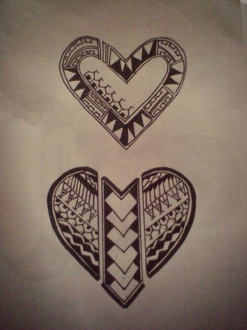 polynesian tribal heart tattoo designs tattoo tattooskid