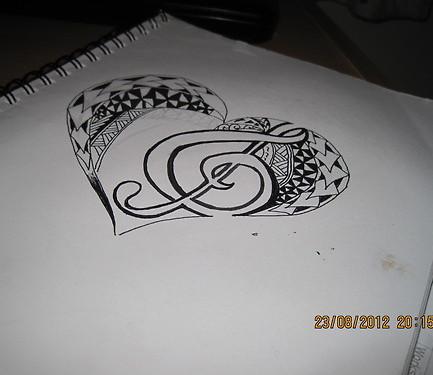 Treble Clef Heart Tattoo Designs